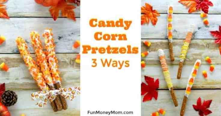 Candy Corn Pretzels Three Ways