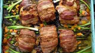Keto Bacon Wrapped Tex-Mex Chicken