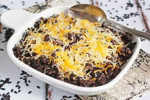Easy One Pot Black Rice and Chorizo Casserole