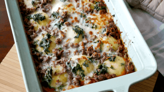 Cheese Ravioli Lasagna with Ground Beef