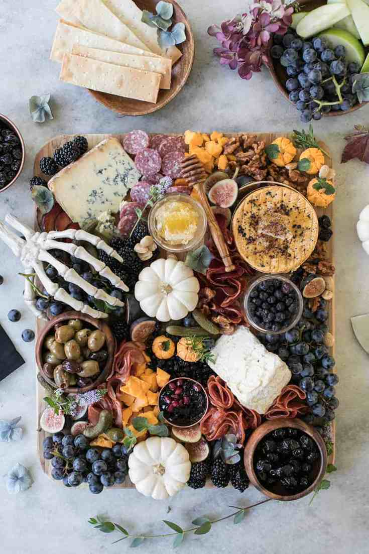 Halloween Meat and Cheese Board