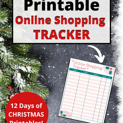 Free Online Shopping Tracker Printable