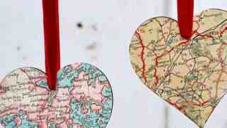 DIY Heart Map Ornament