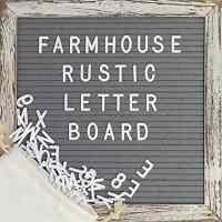 Farmhouse Letter Board