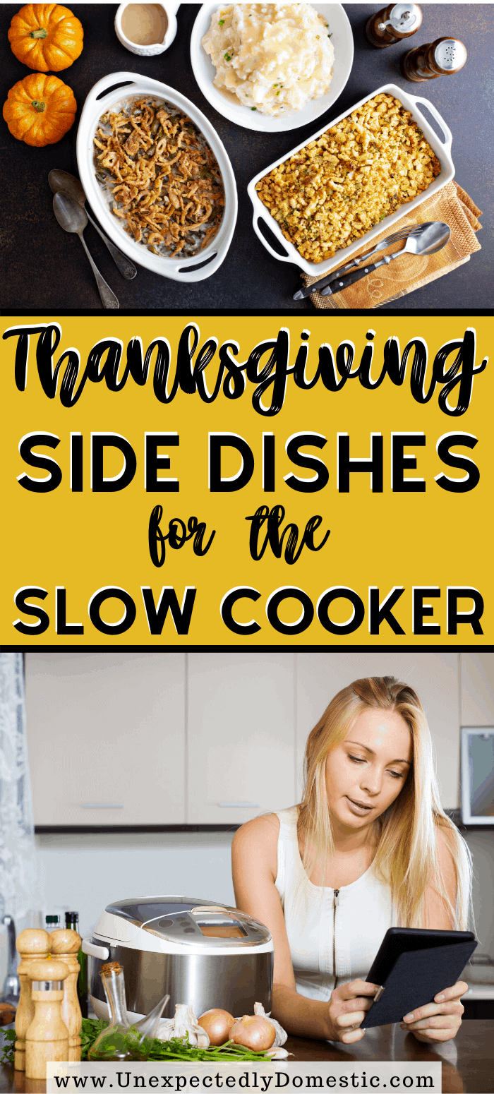 Try making these slow cooker side dishes for Thanksgiving this year! Save valuable oven space and fire up that crockpot for those Thanksgiving dinner sides.