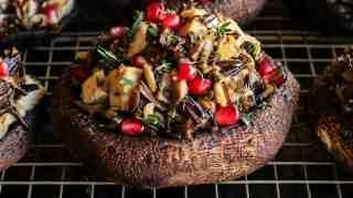 Turkey Wild Rice Stuffed Portobello Mushrooms