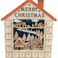 Traditional Wooden Christmas Advent Calendar