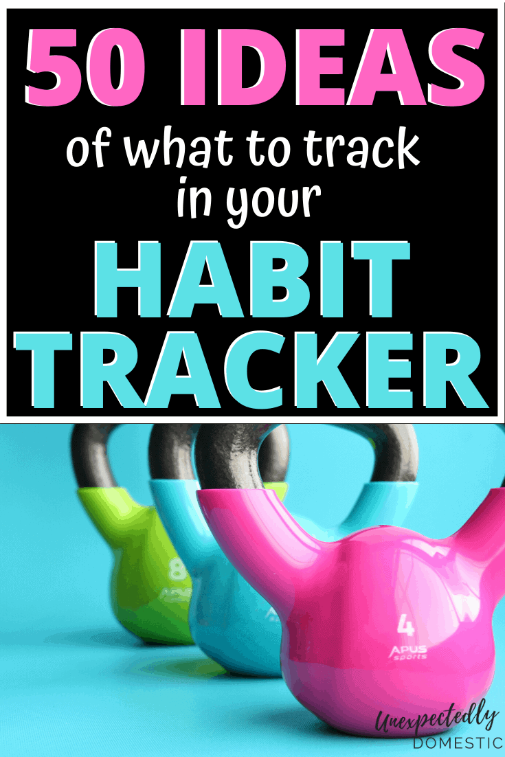 Free habit tracker printable! Plus 50 habit tracker ideas! Print out these weekly, monthly, or yearly habit trackers to succeed with your goal setting and accountability!