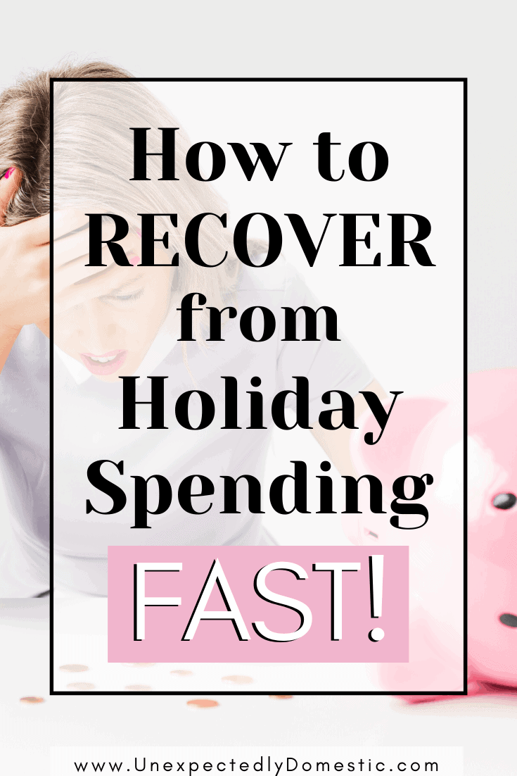 How to recover from holiday spending! Here's how to pay off holiday debt fast, and get your finances back in order in the new year.