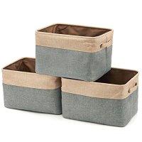 Set of 3 Tweed Storage Cubes