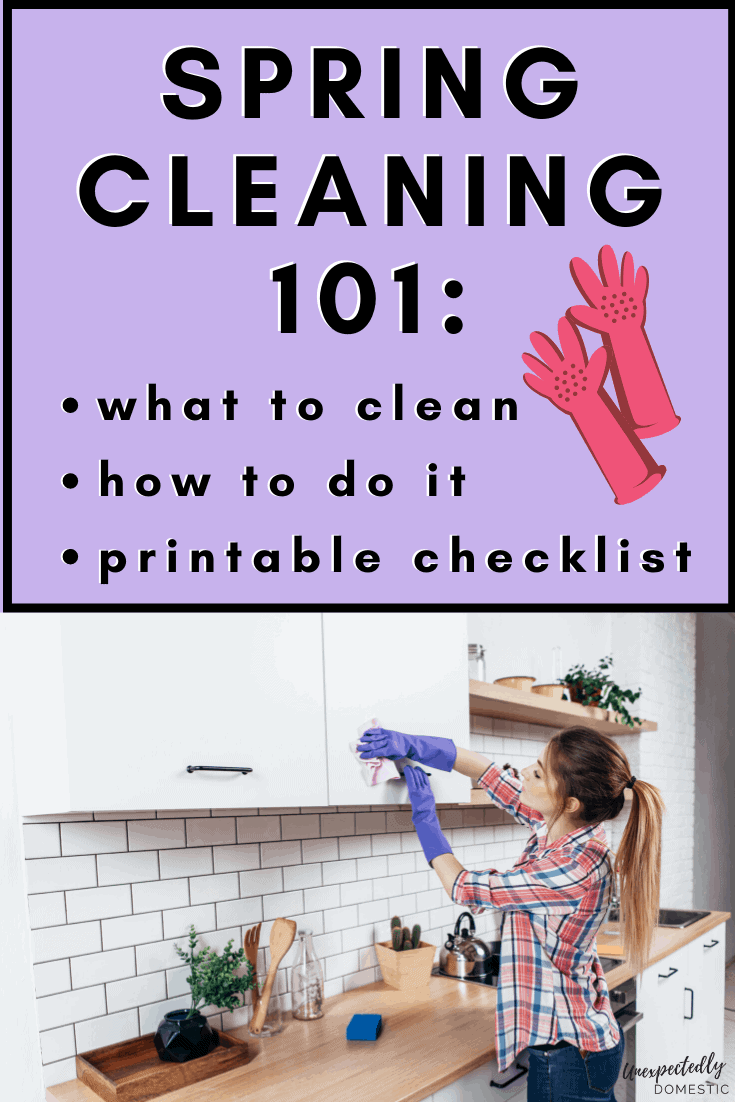A simple spring cleaning checklist! How to plan your spring cleaning, plus a free printable checklist to tackle your spring cleaning the easy way!