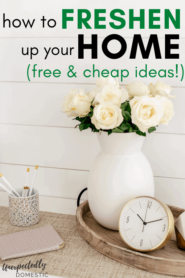 How to freshen up your home on a budget! Free and cheap home upgrades to spruce up your home, and make it look nice inside.