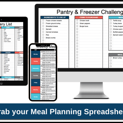 How a Meal Planning Spreadsheet Can Help You Plan Your Weekly Menu in Minutes