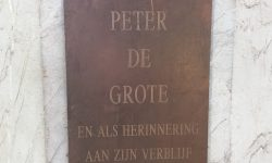 A photo of the plaque commemorating Peter the Great - Brussels, Belgium