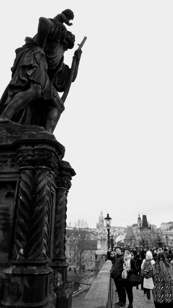 A photo of St Christopher, on his way to the left bank - Prague, Czechia