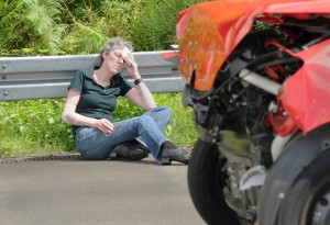 Verkehrsunfälle können neben körperlichen auch seelische Verletzungen hervorrufen. Foto: Guido Rosemann, BASt.