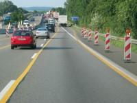 Anstrengendes Fahren in der Autobahnbaustelle, Foto: Dekra.