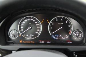 Reichweitenanzeige im BMW. Foto: ADAC.