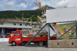 Kollision eines Lieferwagens gegen ein festes Hindernis. Foto: Melanie Duchen/EQ Images/AXA.