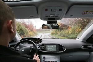 Autofahren im Herbst fordert von Autofahrern besondere Aufmerksamkeit. Egal ob Laub, Sturm oder Regen – als erstes gilt Fuß vom Gas. Foto:ADAC/Victor Machado.