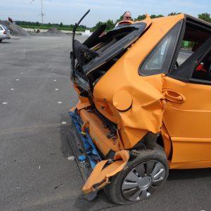 Wohnmobile im Straßenverkehr - Crashtest der Unfallforschung der Versicherer (UDV) bei CTS in Münster. Foto: Petra Grünendahl,