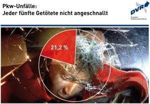Über ein Fünftel der bei Straßenverkehrsunfällen in Deutschland getöteten Pkw-Insassen war 2015 laut Umfrage des Deutschen Verkehrssicherheitsrates (DVR) nicht angeschnallt. Foto: Deutscher Verkehrssicherheitsrat e.V.