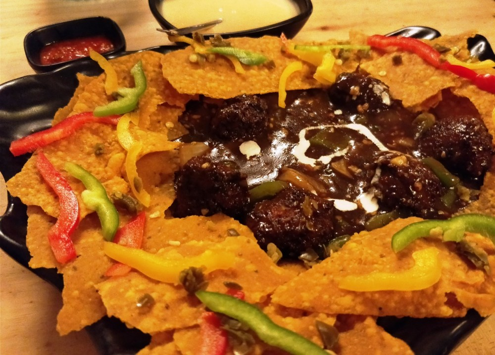 Nachos with Fusion - Exhale Sheesha Lounge in Lower Parel