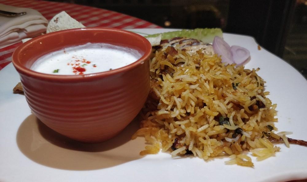 Aloo Ghost Biryani at Dawaat E Eid Food Festival