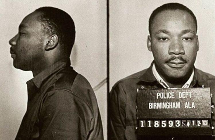 Dr. Martin Luther King, Jr. Mugshot
