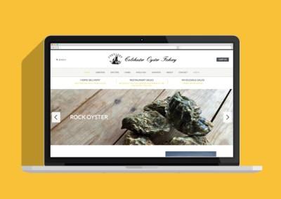 Colchester Oyster Fishery Website - Laptop