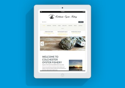 Colchester Oyster Fishery Website - Tablet