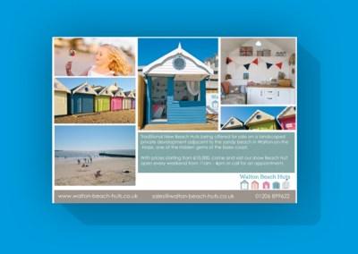 Walton Beach Huts advert in Coast Magazine