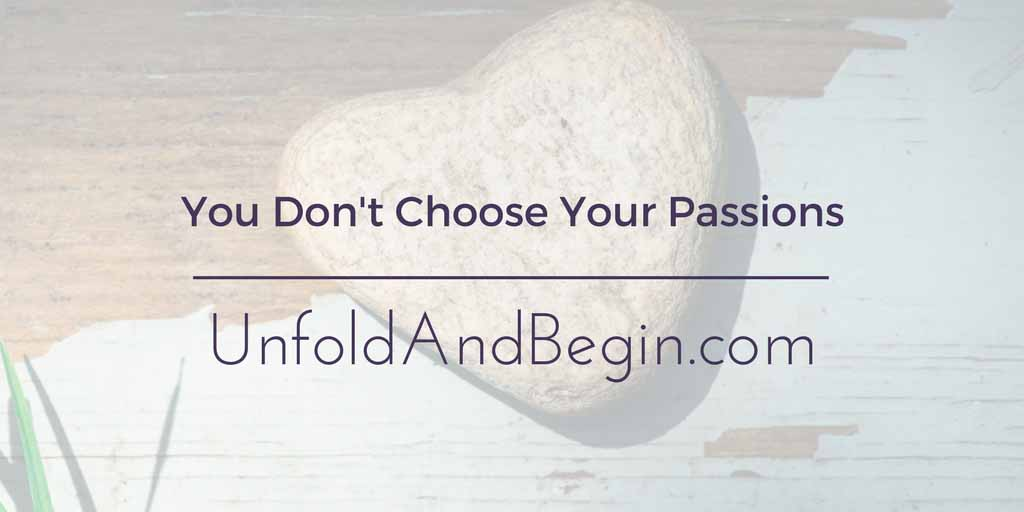 You Don't Choose Your Passions Wednesday Whoa