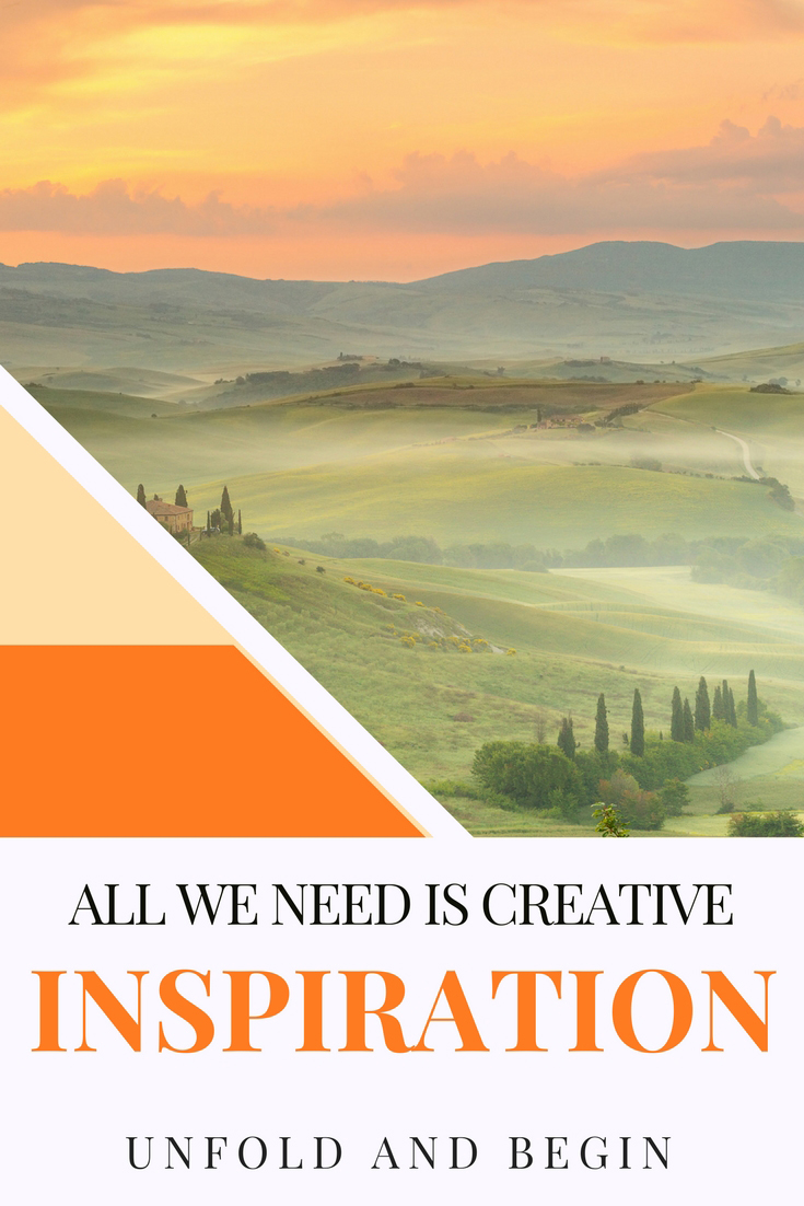 I came across a book that stunned me. So simple in its formatbut passionate in its content, all we need is creative inspiration on UnfoldAndBegin.com