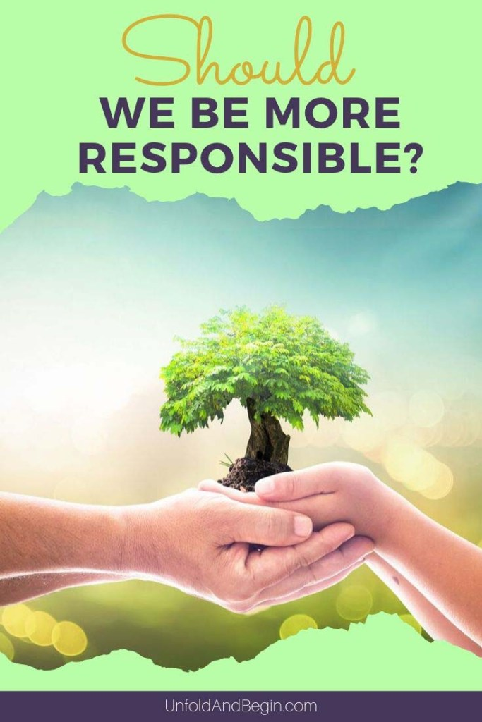 As the season changes over to fall, the Blogging Boomers are looking at personal and business responsibility. The question is should we be more responsible? #personalresponsibility #bloggingboomers