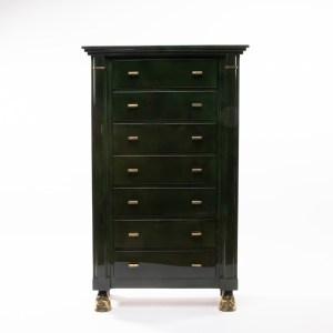 Dark green 7-drawer chest - Maison Ramsay - img01