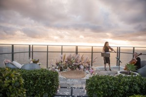 Rooftop Sunrise Proposal