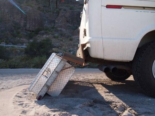 Tool box on bumper