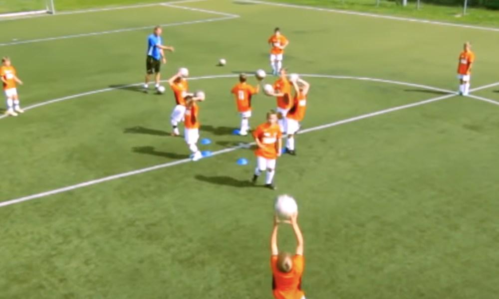 Fotbollsövningar: Lekfull uppvärmning för barn