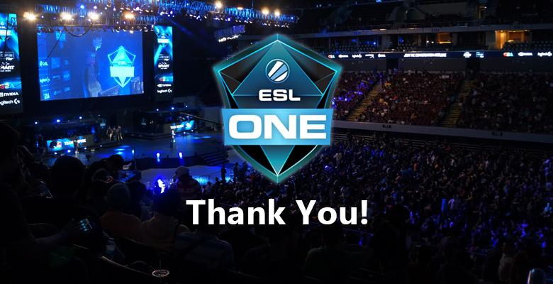 Thanks ESL One