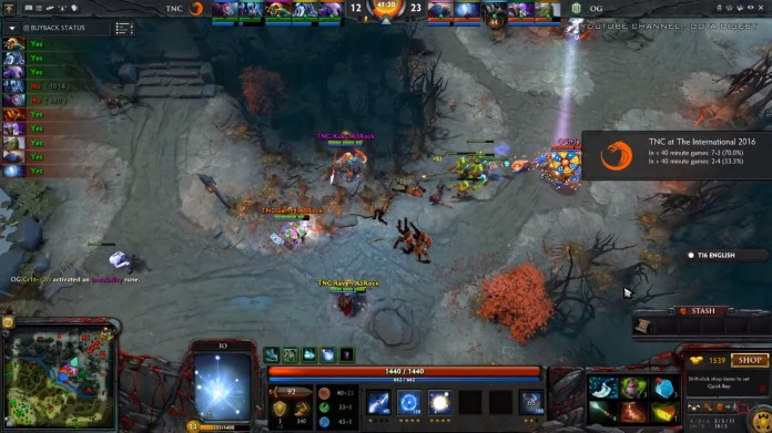 TNC's chances are looking bad as they hold a 2-4 record for matches that take longer than 40 minutes. (Image courtesy of Dota Digest Youtube Channel)