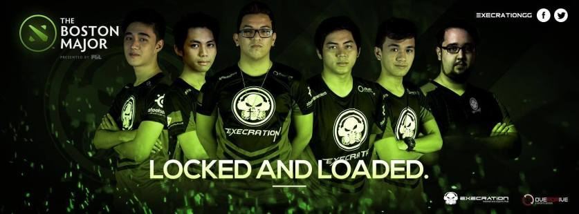 Execration is all in for the Boston Major! (image courtesy of the Execration Facebook page)