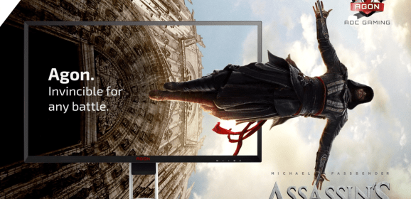 AOC and AGON take the AG322FCX feature spotlight to new heights with Assassins Creed!