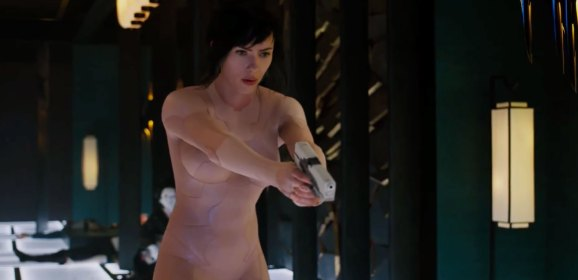 Stealth suits and Ninja robots?! Watch the first 5 minutes of 'Ghost in the Shell'!