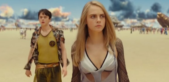 """Cara Delevigne sizzles in this high speed sci-fi action flick """"Valerian""""!"""