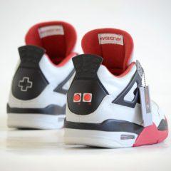 These NES custom Air Jordan 4's are straight FIRE!