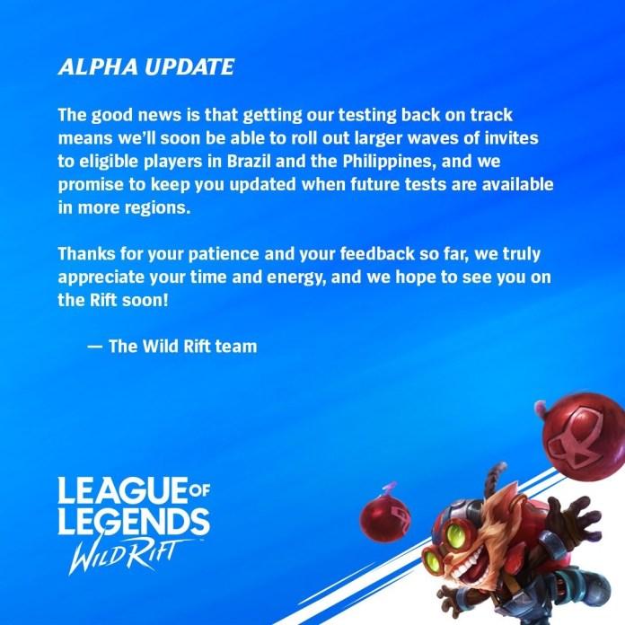 League Of Legends Mobile Test Server