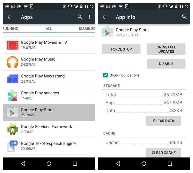 """Como solucionar el error """"Lo sentimos la aplicación Google Play services se  detuvo"""" - Un geek en Colombia"""
