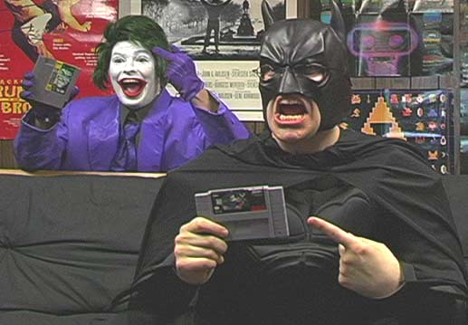 angry video game nerd haciendo el review de batman