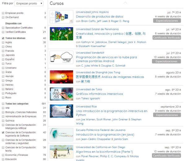 Coursera.org Educación profesional gratuita